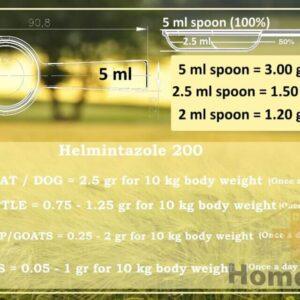 spoon helmintazole 200 fenbendazole