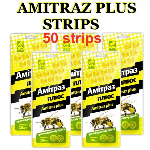 Amitraz strips honey bee mite treatment