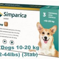 Flea control for Dogs 10-20 kg (22-44lbs)_simparica-simparika-tabletki