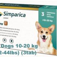 Flea control for Dogs 10-20 kg (22-44lbs)_simparica-simparika-tabletki