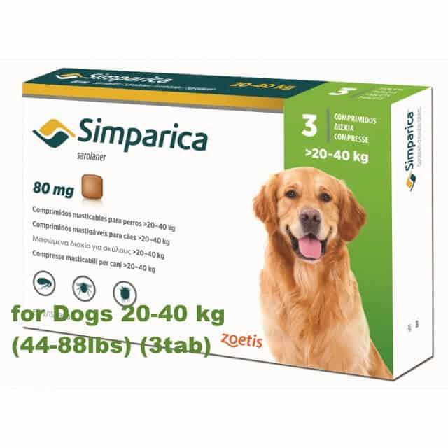 Flea Control Simparica For Dogs Buy Online Shop (44-88lbs