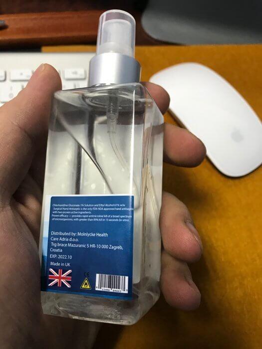 Hand antiseptic sanitazer health