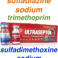 sulfadimethoxine sodium sulfadiazine sodium trimethoprim