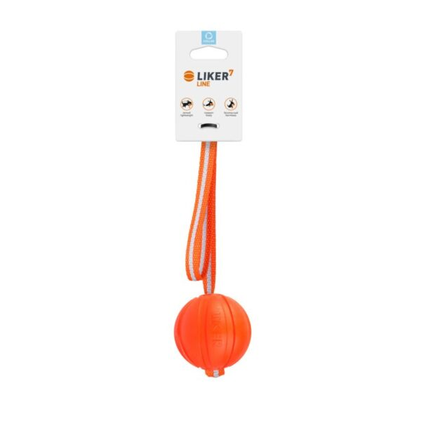 Ball on tape for dogs of small and medium breeds LIKER Line 7