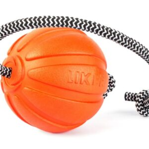 Ball with cord for dogs of small and medium breeds LIKER Cord 7