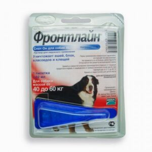 Fleas and Ticks Control for Dogs, XL, 40-60 kg (88-132lb) - 1pip