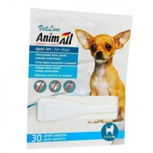 Fleas and Ticks Control for dogs weighing 1.5-4 kg (3-8lb)