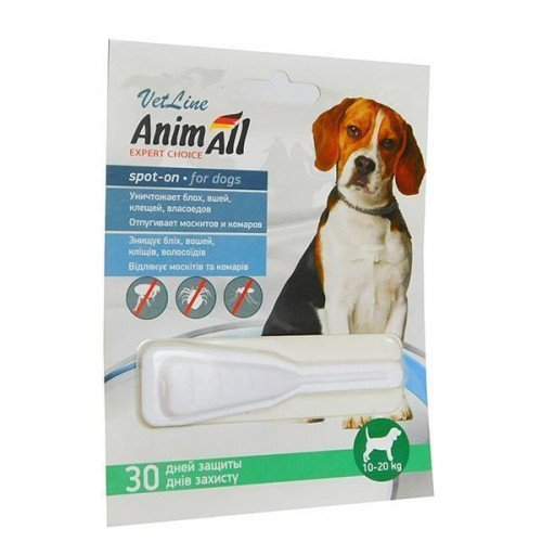 Fleas and Ticks Control for dogs weighing 10-20 kg