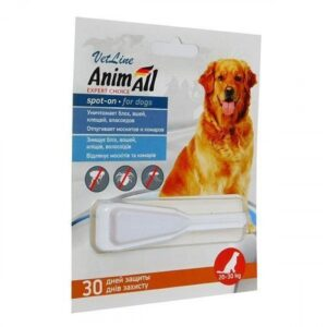 Fleas and Ticks Control for dogs weighing 20-30 kg (44-66lb)