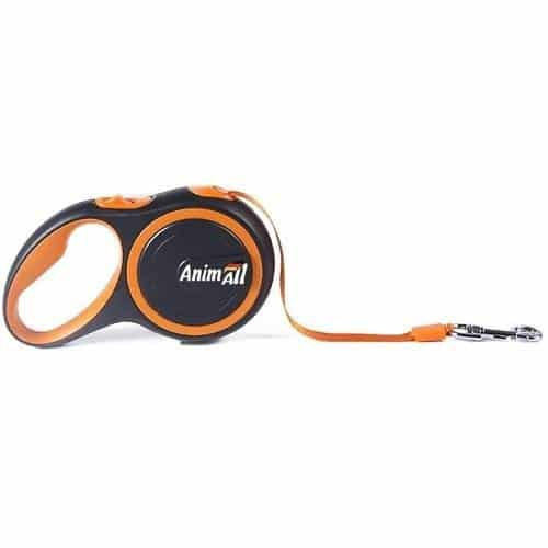 AnimAll roulette leash for dogs weighing up to 25 kg, 5 m (196in) - orange