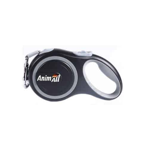 AnimAll roulette leash for dogs weighing up to 25 kg, 5 m (196in) - grey