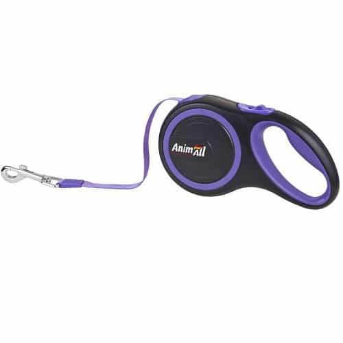 AnimAll roulette leash for dogs weighing up to 50 kg, 5 m (196in) - purple