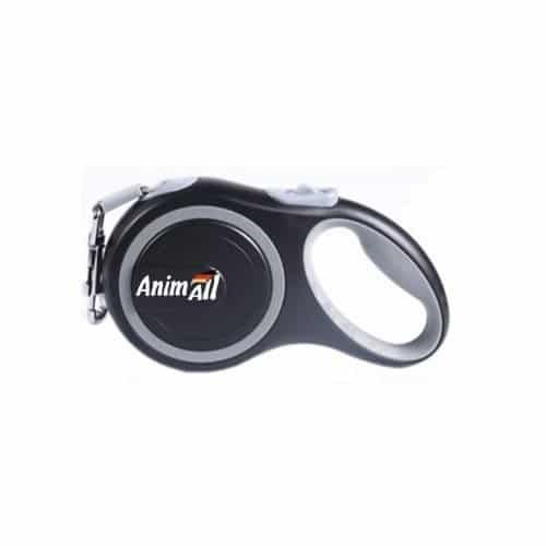 AnimAll roulette leash for dogs weighing up to 50 kg, 5 m - grey