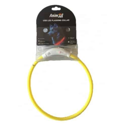 AnimAll's new collar for cats and dogs, 35 cm (13.7in) - yellow