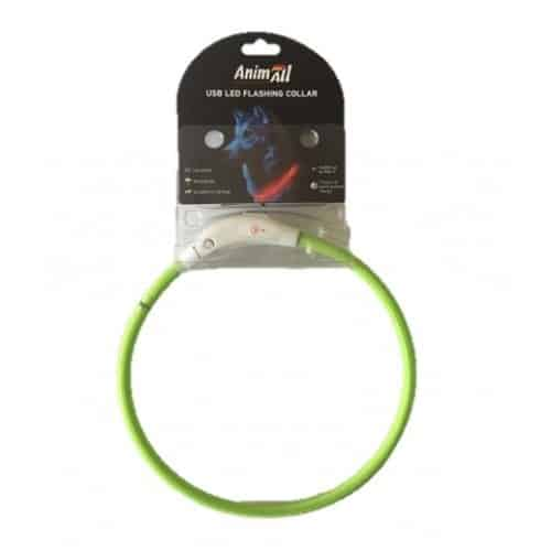 AnimAll Walking LED Collar for Dogs, 50 cm (19.6in) - green