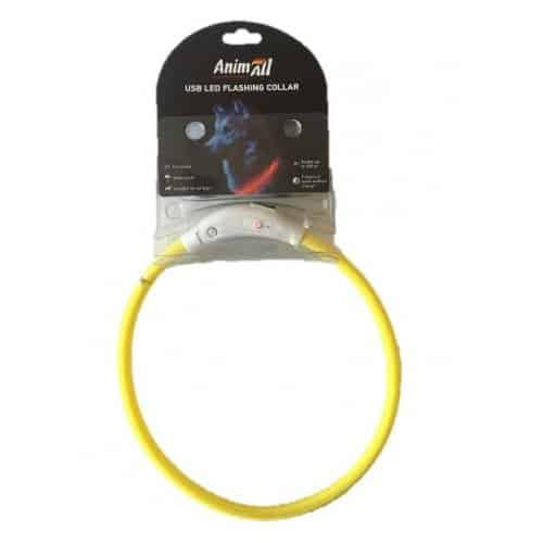 Glowing collar LED AnimAll for dogs 70 cm (27.5 in) - yellow
