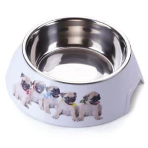 AnimAll plastic bowl with metal dog insert - 300 ml