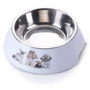 AnimAll plastic bowl with metal dog insert - 150 ml