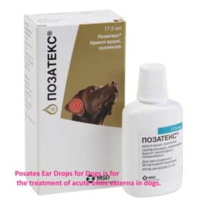 Posatex Otic Suspension Ear Drops for Dogs