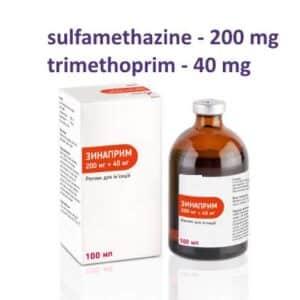 sulfamethazine-trimethoprim solution