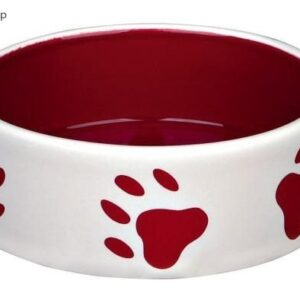 Trixie Ceramic Bowl with paw pattern 12 cm / 0,3 l