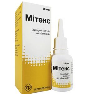 Mite for Dogs and Cats ear drops 20 ml