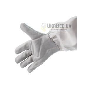 Gloves beekeeper gray (leather + linen)