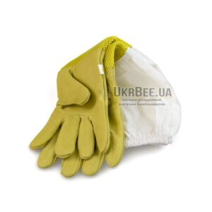 """Beekeeper yellow gloves with ventilation """"Air-Premium"""" (leather + mesh)"""